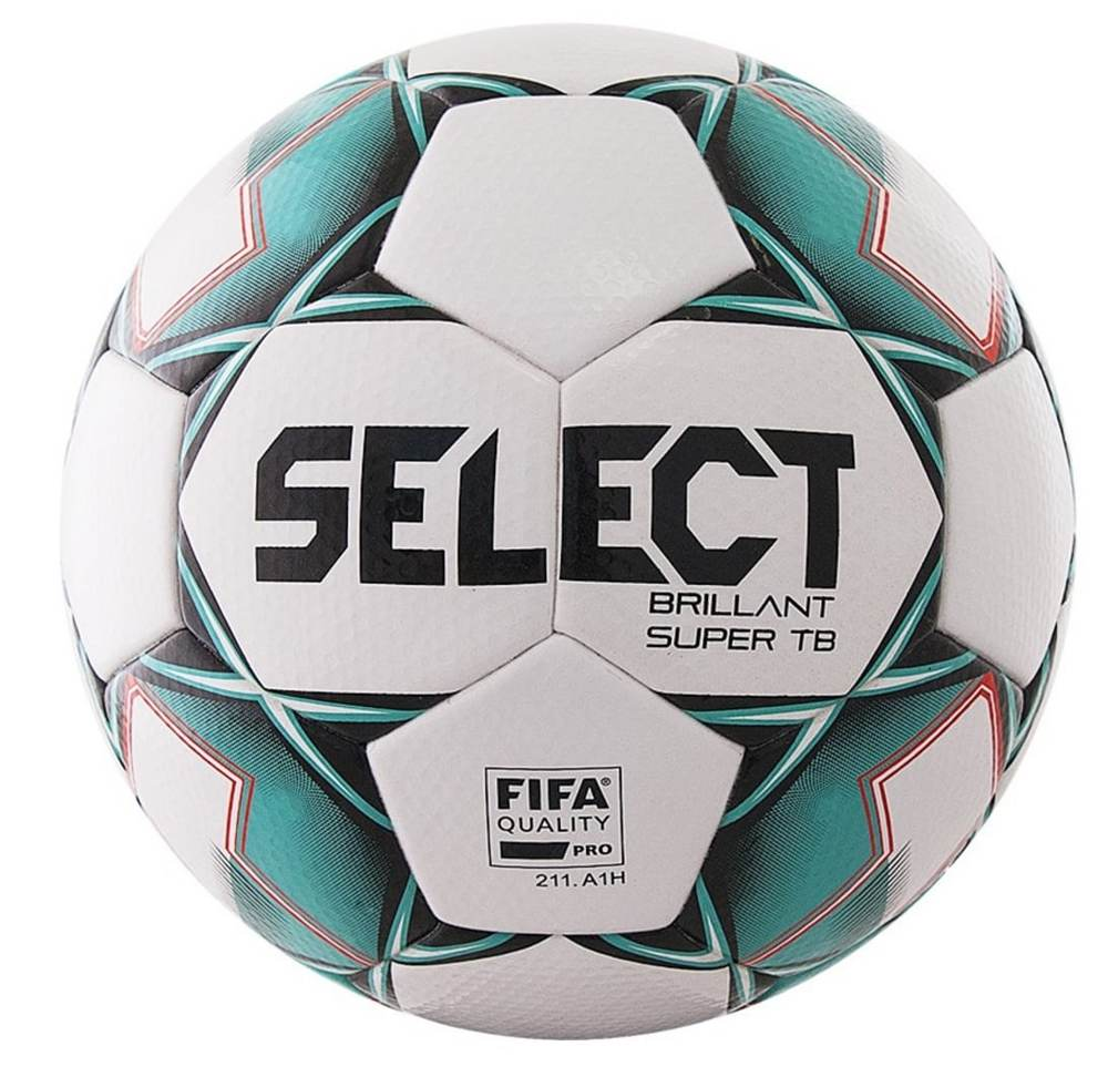 Мяч футбольный №5 Select Brillant Super TB White-Green-Black FIFA